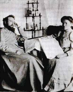 Священник Виктор Михайлович Киранов с матушкой Антониной