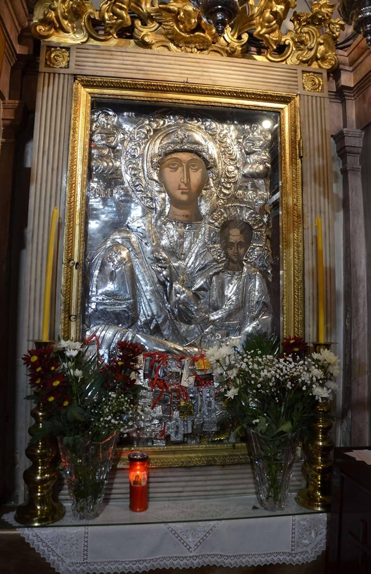 Чудотворная икона Богородицы Фанеромени (Явленная)
