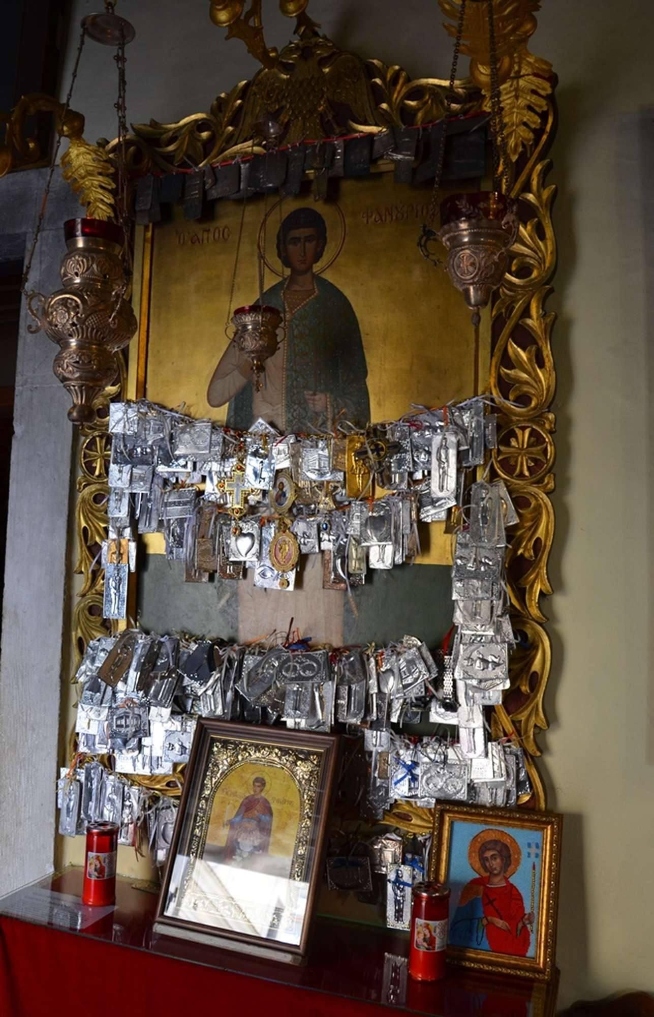 Чудотворная икона святого мученика Фануария в храме Иоанна Предтечи