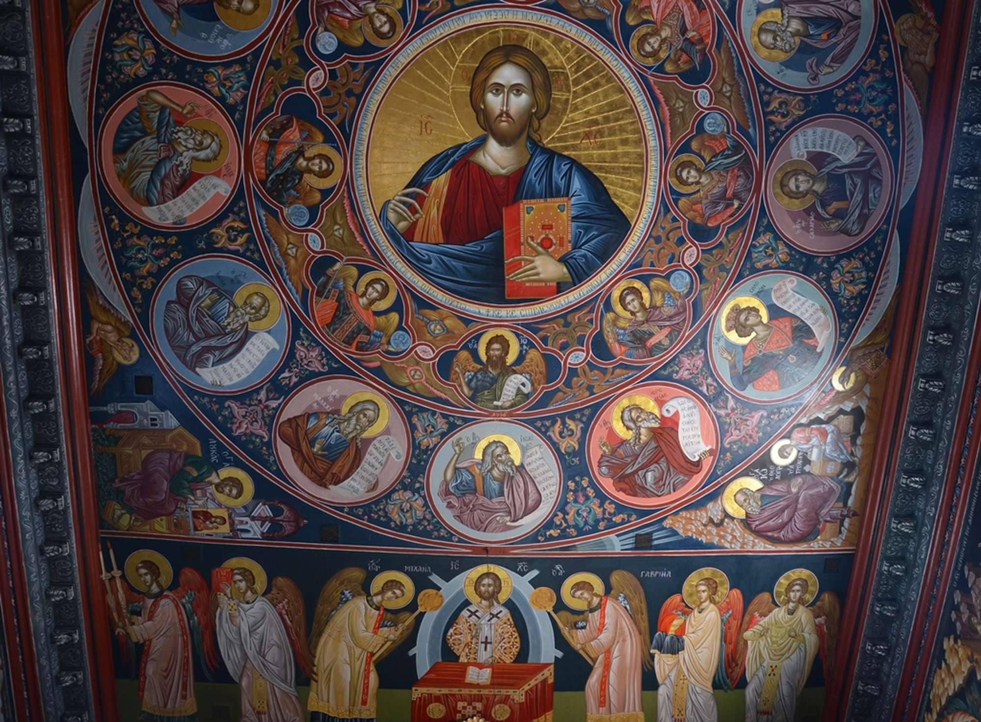 Потолок главного храма монастыря Пантократор