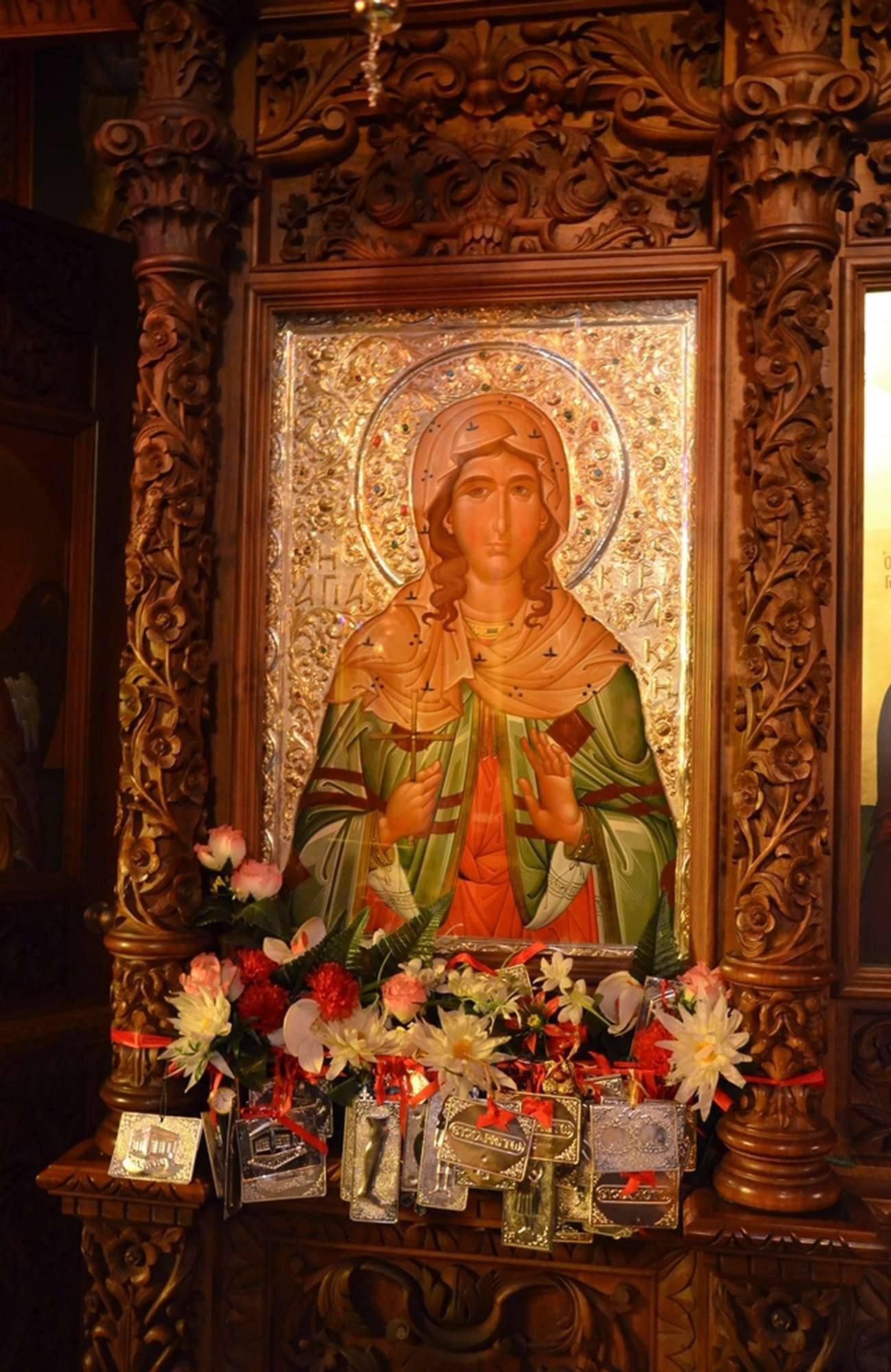 Почитаемая икона святой Кириакии